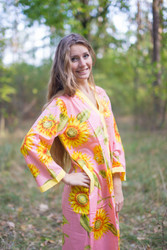 """Simply Elegant"" kaftan in Sunflower pattern"