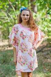 """Summer Celebration"" kaftan in Floral Posy pattern"