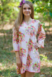 """Sun and Sand"" Beach Tunic in Floral Posy pattern"