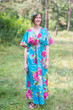 """Timeless"" kaftan in Large Fuchsia Floral Blossom pattern"