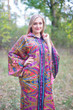 """Oriental Delight"" kaftan in Cheerful Paisleys"