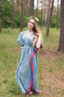 """Timeless"" kaftan in Multicolored Stripes pattern"