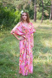 """Timeless"" kaftan in Rosy Red Posy pattern"