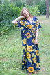 """Timeless"" kaftan in Sunflower Sweet pattern"