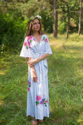 """Timeless"" kaftan in Swirly Floral Vine pattern"