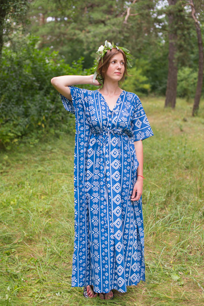 """Timeless"" kaftan in Tribal Aztec pattern"