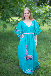 """Breezy Bohemian"" kaftan in Big Butterfly pattern"