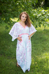 """Breezy Bohemian"" kaftan in Cherry Blossoms pattern"