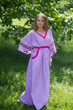"""Breezy Bohemian"" kaftan in Climbing Vines pattern"