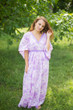 """Breezy Bohemian"" kaftan in Ombre Fading Leaves pattern"
