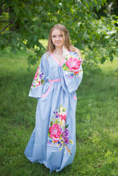 """Breezy Bohemian"" kaftan in One Long Flower pattern"