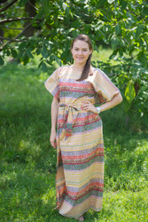 """""""Divinely Simple"""" kaftan in Abstract Geometric pattern"""