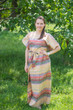 """Divinely Simple"" kaftan in Abstract Geometric pattern"