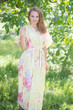 """""""Best of both the worlds"""" kaftan in Cabbage Roses pattern"""