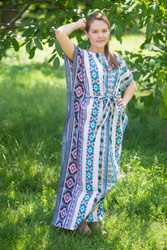 """Divinely Simple"" kaftan in Aztec Geometric pattern"