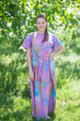 """Divinely Simple"" kaftan in Batik Watercolor pattern"