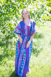 """Best of both the worlds"" kaftan in Diamond Aztec pattern"