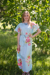 """Divinely Simple"" kaftan in Cabbage Roses pattern"