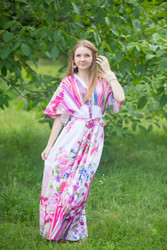 """Best of both the worlds"" kaftan in Floral Watercolor Painting pattern"