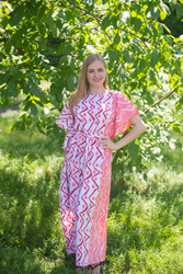 """Divinely Simple"" kaftan in Chevron Dots pattern"