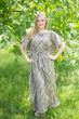 """Divinely Simple"" kaftan in Chevron pattern"
