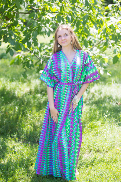 """Best of both the worlds"" kaftan in Geometrica pattern"
