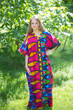 """Best of both the worlds"" kaftan in Glowing Flame pattern"