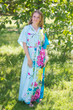 """Best of both the worlds"" kaftan in Jungle of Flowers pattern"