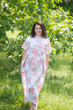 """Divinely Simple"" kaftan in Faded Flowers pattern"