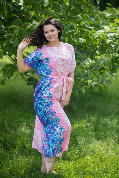 """Divinely Simple"" kaftan in Falling Leaves pattern"