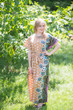 """""""Divinely Simple"""" kaftan in Floral Bordered pattern"""