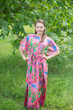 """Divinely Simple"" kaftan in Ikat Aztec pattern"