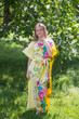 """Divinely Simple"" kaftan in Jungle of Flowers pattern"