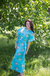"""Divinely Simple"" kaftan in Pink Peonies pattern"