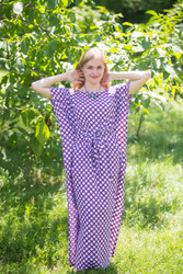 """Divinely Simple"" kaftan in Polka Dots pattern"
