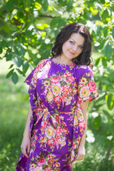 """""""Divinely Simple"""" kaftan in Rosy Red Posy pattern"""