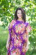 """Divinely Simple"" kaftan in Rosy Red Posy pattern"