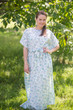 """""""Divinely Simple"""" kaftan in Tiny Blossoms pattern"""