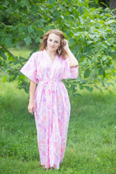 """Best of both the worlds"" kaftan in Ombre Fading Leaves pattern"