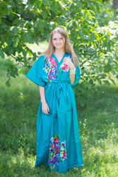"""Best of both the worlds"" kaftan in One Long Flower pattern"