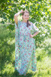 """Divinely Simple"" kaftan in Vintage Chic Floral pattern"