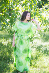 """Divinely Simple"" kaftan in Watercolor Splash Floral pattern"