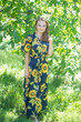 """Best of both the worlds"" kaftan in Sunflower Sweet pattern"