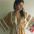 """I wanna Fly"" kaftan in Aztec Geometric pattern"
