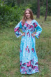 """Button me down"" kaftan in Butterfly Baby pattern"