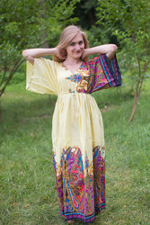 """I wanna Fly"" kaftan in Cheerful Paisleys pattern"