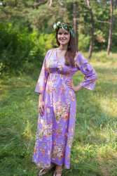 """Button me down"" kaftan in Flower Rain pattern"