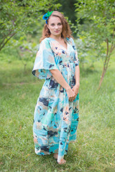 """I wanna Fly"" kaftan in Flamingo Watercolor pattern"