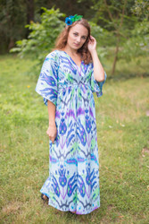 """I wanna Fly"" kaftan in Ikat Aztec pattern"
