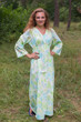 """Button me down"" kaftan in Ombre Fading Leaves pattern"